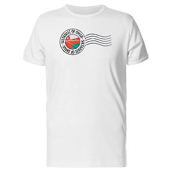 Sultanate Of Oman Postal Flag Tee Men's -Image by Shutterstock
