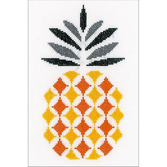 Pineapple On Aida Counted Cross Stitch Kit-6.25
