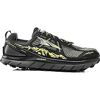 Lone Peak 3.5 Mens Zero Drop Trail Running Shoes Black/Yellow
