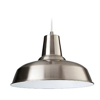 Firstlight Smart Pendant Finished In Brushed Steel With White Inside