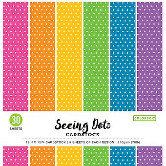 Colorbok 78Lb Single-Sided Printed Cardstock 12