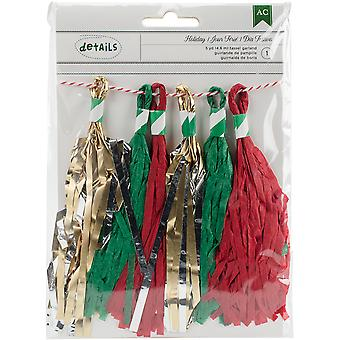 Holiday Ornament Glittered Embellishments 4/Pkg-Red & Green