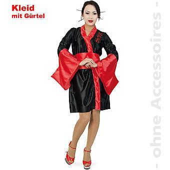 Geisha Kostüm Damen Asiatin Japanerin Kimono Damenkostüm