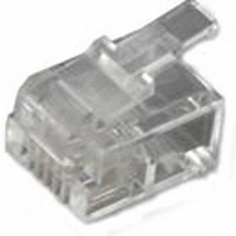 RJ11 modular plug Plug, straight Number of pins: 6P4C MHRJ126P4CR Transparent MH Connectors 6510-0104-03 1 pc(s)