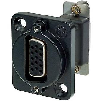 D-SUB adapter D-SUB socket 15-pin - D-SUB socket 15-pin Neutrik NADB15FF-B 1 pc(s)