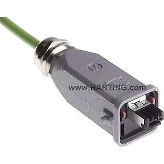 Harting 09 45 115 1100 Sensor/actuator data cable Plug, straight No. of pins (RJ): 4P4C 1 pc(s)