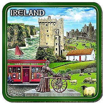 Ireland Montage Cork Backed Drinks Coaster (03971)