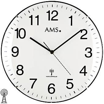 AMS 5960 wall clock radio White Dial