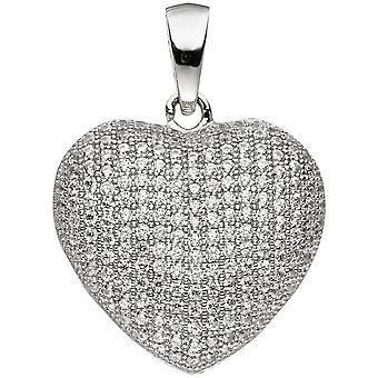 Кулон сердце 925 стерлингового серебра с цирконием сердца кулон серебро Кулон