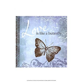 Butterfly Notes IX Poster Print by Beth Anne Creative (13 x 19)
