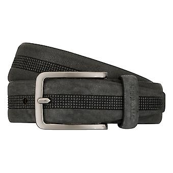 OTTO KERN belts men's belts leather belt grey 7480