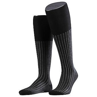 Falke Shadow Socken Kniestrümpfe - grau/weiß