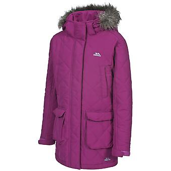Trespass Girls Reep Synthetic Insulated Quilted Fur Hood Jacket