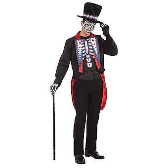 Bnov Day Of The Dead Costume Long Tail Suit