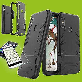 best website 7945c 75e8b För Samsung Galaxy A7 A750F 2018 stil metall hybrid fallet TPU Silikon svart  + 0,