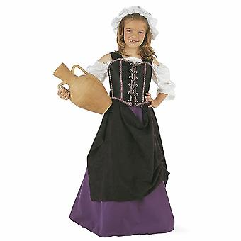 Medieval hostess girl costume Builder maid kids costume