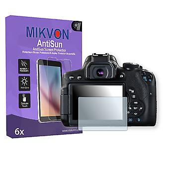 Canon EOS 750D Screen Protector - Mikvon AntiSun (Retail Package with accessories)