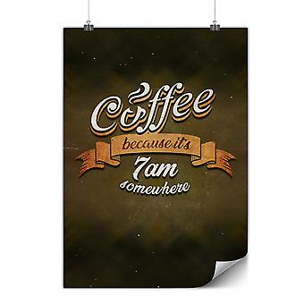 Matte or Glossy Poster with Coffee Addict Funny | Wellcoda | *y3477