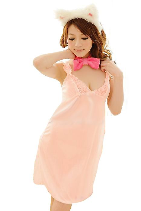 Waooh 69 - babydoll Pink salmon and String