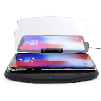 ONX3 Czarne Qi bezprzewodowej włączone ładowania Head Up Wyświetlacz HUD obrazu reflektor telefon komórkowy uchwyt nawigacji GPS z ultra-cienkie Qi odbiornik moduł Chip dla Sharp Aquos S3 Mini uniwersalnych samochodów