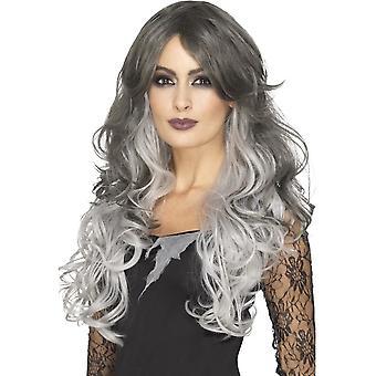 Deluxe gotiske bruden parykk, varmebestandig/Styleable, grå