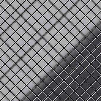 Mosaïque en métal massif Acier inoxydable ALLOY Diamond-S-S-MM