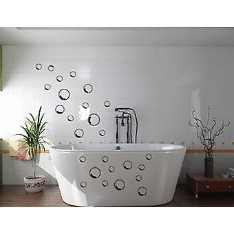 Pack Of 42 Outline Bubbles Bathroom Wall Sticker Set