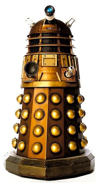 Dalek (oro) (Doctor Who) - Lifesize recortar de cartón / espectador de pie