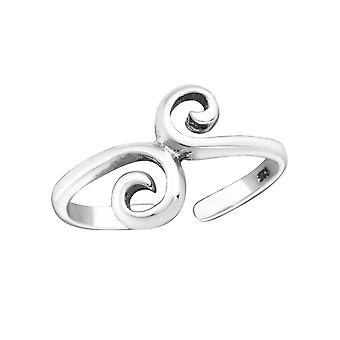Remolinos - 925 anillos de plata del dedo del pie - W15851X