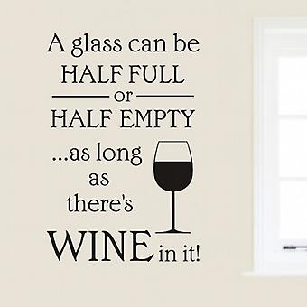 A Wine glass wall art sticker