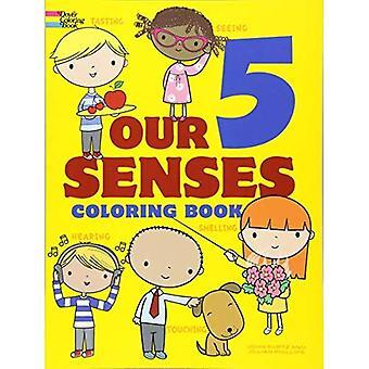 Nos 5 sens Coloring Book (Dover livres à colorier pour les enfants)