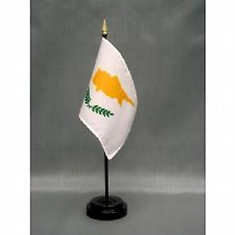Cyprus Table Flag with Stick and Base