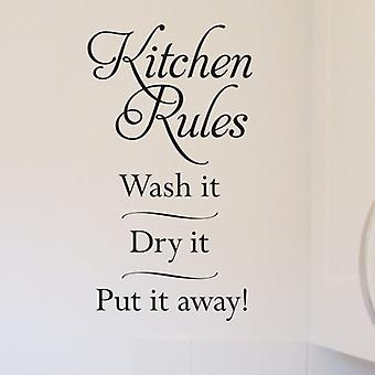 Keuken regels Wall Art Sticker