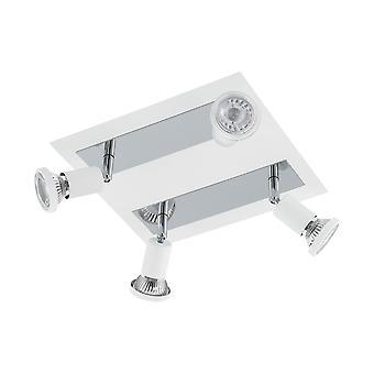 Eglo - Sarria 4 luce LED Faretto bianco cromo EG94962