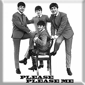 Beatles Please Please Me band in suits) 1963 steel fridge magnet (ro)