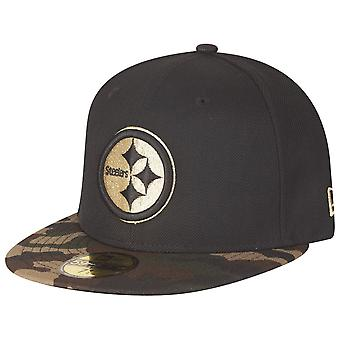 New era 59Fifty Fitted Cap - GOLD Pittsburgh Steelers camo