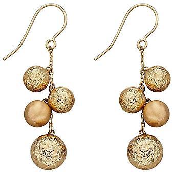 Elements Gold Bead Earrings - Gold