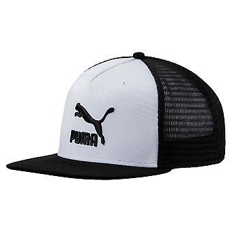أرشيف بوما شعار الموضة سائق الشاحنة البيسبول كاب قبعة أبيض/أسود