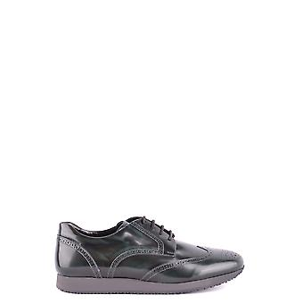 Hogan Green Leather Lace-up Shoes
