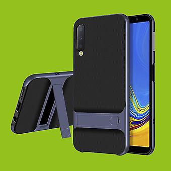 For Samsung Galaxy A7 A750F 2018 standing hybrid case 2 piece SWL outdoor Blau bag case cover protection