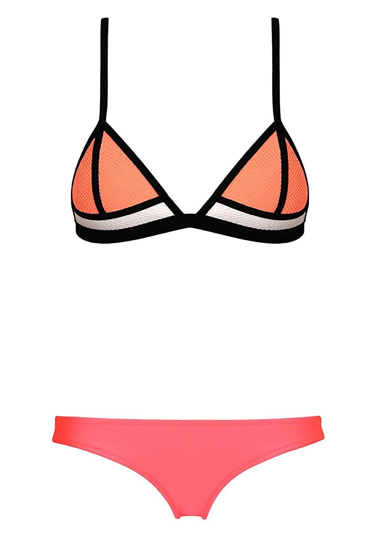 Waooh - Bikini tricolor triangle cups with nets