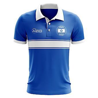 Izrael koncepcja koszula Polo z paskiem (niebieski)