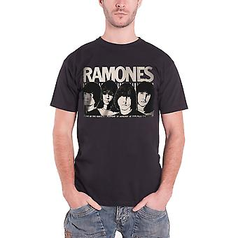 The Ramones T Shirt Odeon Poster Punk band Official Mens Black