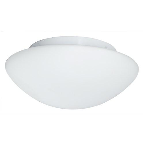 Searchlight 1910-23 Domed Bathroom Flush Ceiling Light With Opal Glass. 23Cm