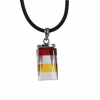 The Olivia Collection Multi Coloured Cz Pendant on 18 Inch Leather Cord