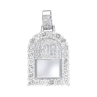 Premium Bling-925 Sterling Silver Mini Pendant R.I.P