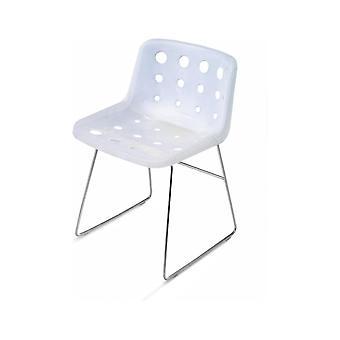 Loft Robin Day Skid witte plastic Polo stoel