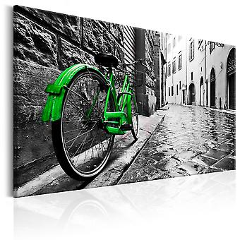 Wandbild - Vintage Green Bike