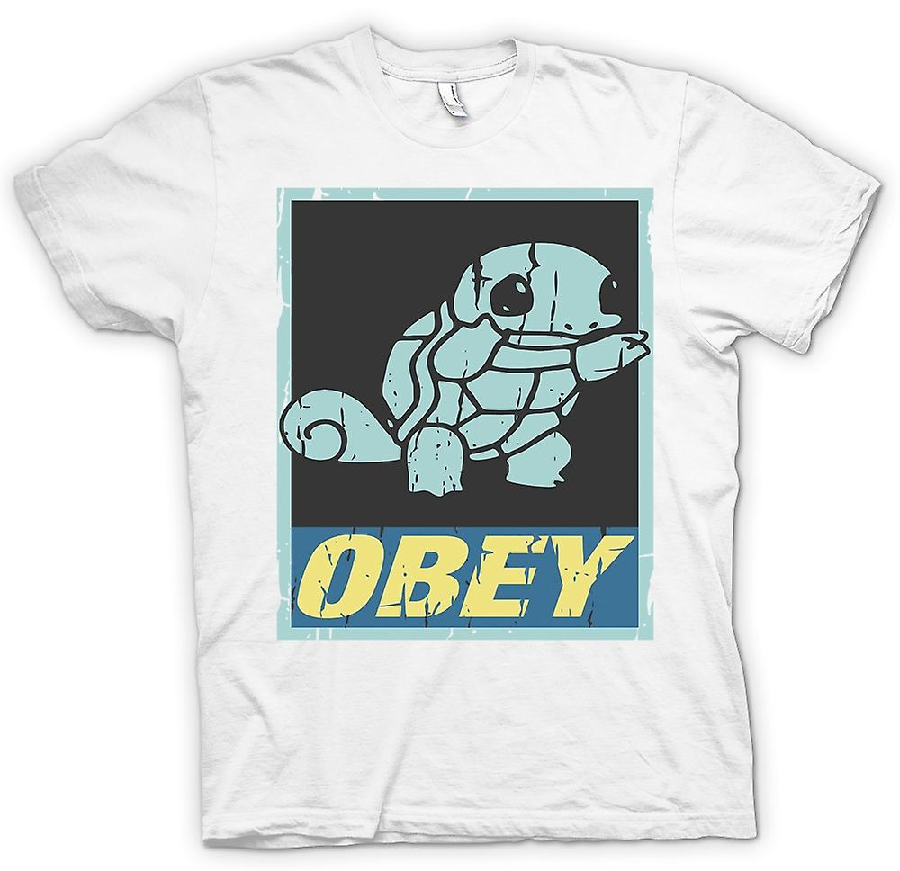 T-shirt-Squirtle obbedire - Cool Pokemon ispirato