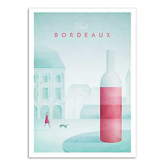 Art-Poster - Visit Bordeaux - Henry Rivers 50 x 70 cm